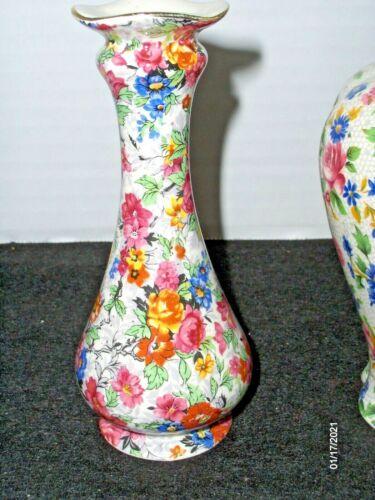"MARINA - Lord Nelson Ware - CHINTZ  Mini Vase 5"" tall"