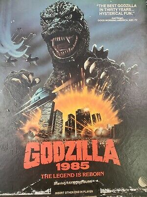 Godzilla 1985 ced video disc movie