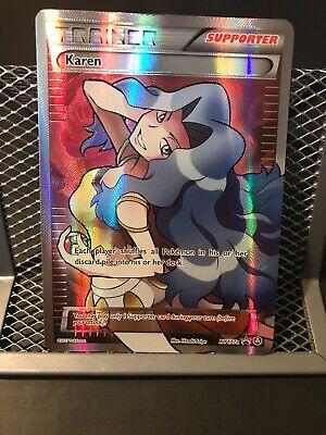 FULL ART Karen ULTRA RARE XY177a Premium Trainer's XY Collection Pokemon Alt- M/
