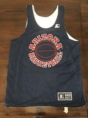 ccfad003d2ff STARTER U of A Wildcats Arizona Basketball Reversible Jersey Men s Sz 48  VINTAGE