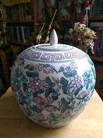 Antker Ingwer Topf Kugel Vase Bemalt Gemarkt China Keramik Bayern - Würzburg Vorschau