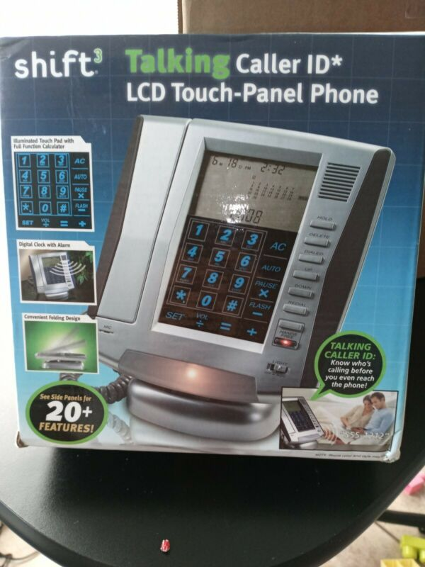 Shift3 talking caller ID * LCD touch -panel phone new condition box is open