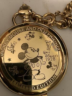 #400- Rare Pulsar V701-0A70 LE # 0057/3000 Mickey Mouse Character Pocket Watch.