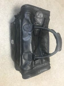 Men's Leather carry on duffle bag