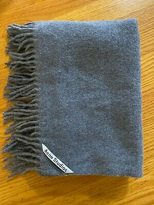 Acne Studios Gray Canada Wool Oversized Scarf Great Condition Womens/Mens