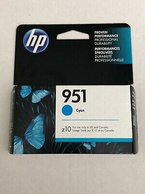 HP 951 Cyan Ink Cartridge - single unit - NEW, never opened -expires Sept 2020