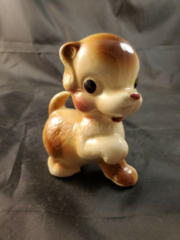 Vintage Ceramic Dog Figurine Puppy Chihuahua