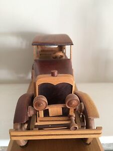 Antique Auto Made w/ Exotic Solid Wood.