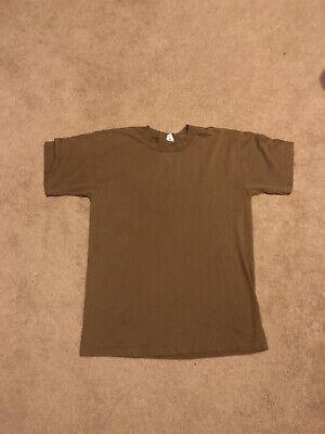 1970s Mens Shirt Styles – Vintage 70s Shirts for Guys Vintage 1970s Duke Branded Brown Blank Singnle Stitch T Shirt $18.00 AT vintagedancer.com