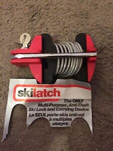 Ski lock antitheft multipurpose carrying Device
