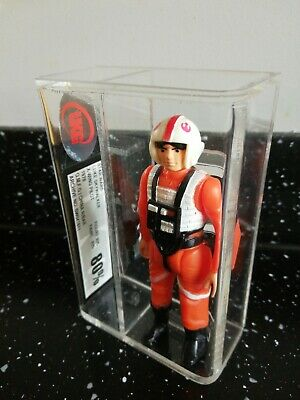 STAR WARS Vintage Luke Skywalker X-Wing Pilot China R/B 1978 AFA UKG 80%