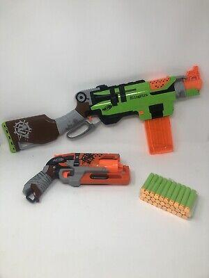 NERF Gun Lot - SLINGFIRE HAMMERSHOT Blasters - Zombie Strike - Ammo Clip Darts