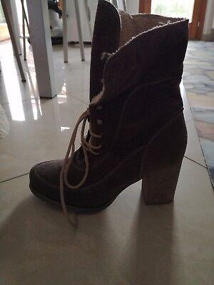 NEW Bonprix Ankle Boots foderati di pelo num. EUR 38, bellissimi!!