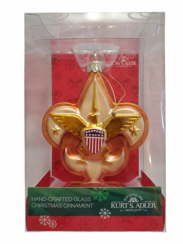 Kurt Adler Boy Scouts Of America Emblem/Logo Glass Ornament 4 inch