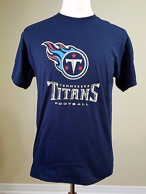 New With Tags Tennessee Titans T Shirt NFL Team Apparel Football Dark Blue Med.