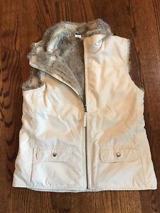 Women's GAP reversible faux fur vest