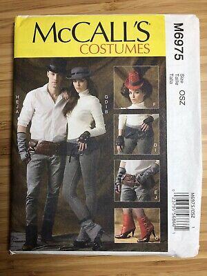 McCalls Costume Pattern M6975 Steampunk Accessories Uncut