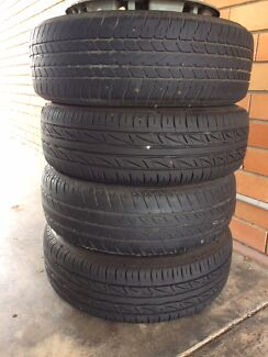 Hyundai Getz four tyres in good condition with rims