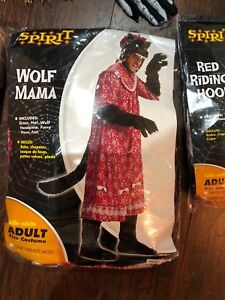 Adult wolf and Red Riding Hood Costume