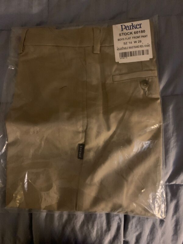 Parker Uniforms Boys Flatfront Pants Size 14 NWT