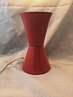 Vintage Mid Century Red Cone Aluminum Lava Lamp Base Underwriter Laboratories