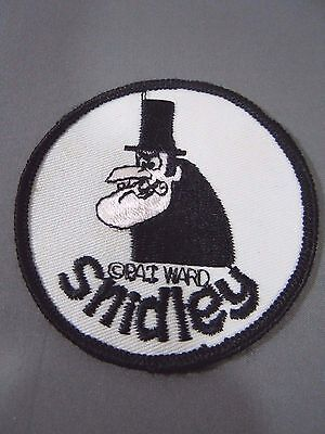 """SNIDLEY WHIPLASH Embroidered Iron-On Patch - 3"""" - Rocky & Bullwinkle- Pat Ward"""