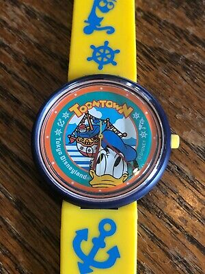 Vintage Novelty Watch Disney Toontown Donald Duck