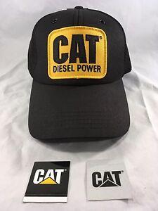 NWT CAT Caterpillar TRUCKER HAT Mesh DIESEL POWER Cap - New Design, Classic Look