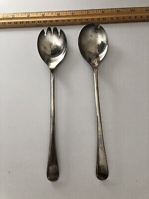 Kings design EPN SA1 Sheffield England Silver plated set 4 Piece Table  Spoons