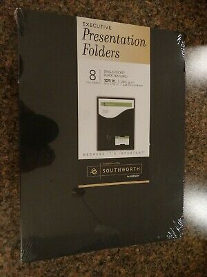 New Southworth Company One-pocket Presentation Folders 9 X 12 8pack