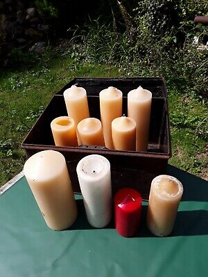 Candles. Large Candles. Deed box full of big Candles.  Near Winchester