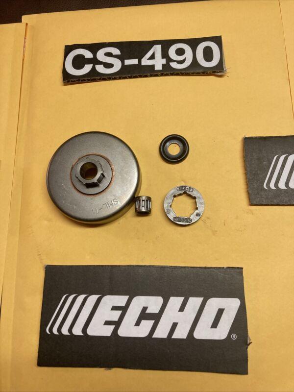 NEW ECHO CS 490 CS-490 CHAINSAW CLUTCH DRUM ASSEMBLY GENUINE OEM PARTS