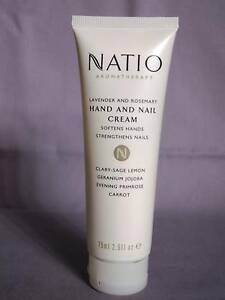 NATIO Aromatherapy Lavender & Rosemary Hand & Nail Cream 75ml NEW Greenwood Joondalup Area Preview