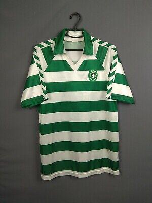 Sporting Club Jersey 1985 1986 Home L Shirt Hummel Football Soccer ig93 image