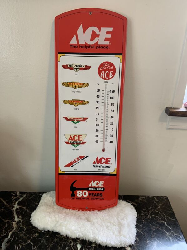 ACE HARDWARE METAL WALL THERMOMETER