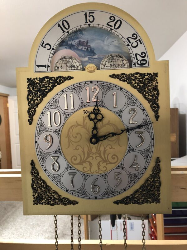 Herschede Grand Father Clock Movt With Face. Just completely overhauled