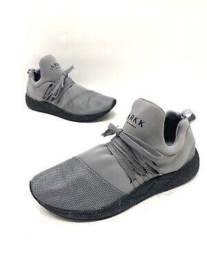 Arkk Copenhagen Raven Womens Gray/black Athletic Casual Shoes Size 9.5