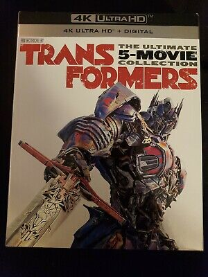 Transformers Ultimate Five Movie Collection 4K + bluray w/slipcover no scratches