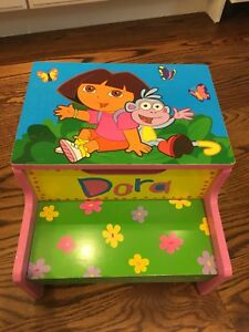 Dora the Explorer wooden step stool