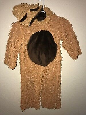 SHAGGY BROWN BEAR HALLOWEEN COSTUME BOOTIES PLUSH PARADISE 18 mo-2T  CHENILLE