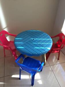 Toddlers Table and 3 Chairs Hinchinbrook Liverpool Area Preview