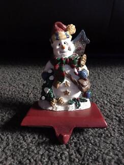 Stocking hanger - snowman