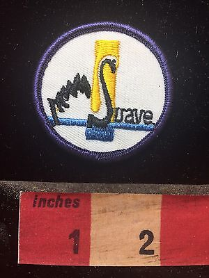 Vtg SUAVE Swimming Swan Patch (thought to be a school mascot) 77P7