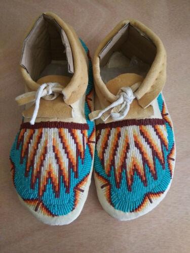 Native American Beaded Moccasins Shoshone