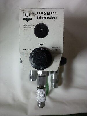 Bird 3m High Flow Module Air Oxygen O2 Blender Sn 75-0081 Miami