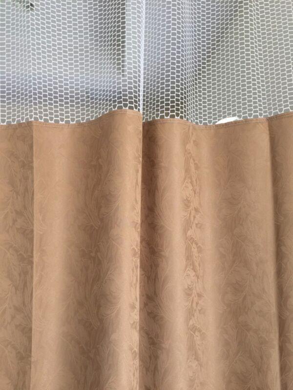 Curtain Caramel 68Wx93 HOSPITAL CLINIC LAB Antibacterial Antimicrobial medical