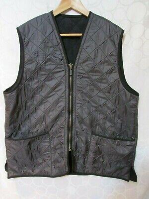 BARBOUR Polar Quilt Waistcoat Zip In Liner Vest Black Men's Size XL