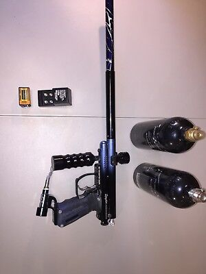 SPYDER Aggressor E-Marker Paintball Gun with Replaced Barrel and Two Tanks