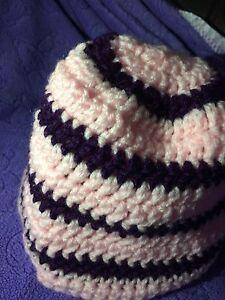 Pink/Purple Striped Hat