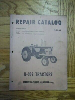Minneapolis-moline U-302 Tractor Repair Catalog